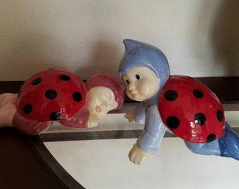 Ceramic ladybug babies