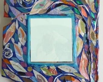 Trees Swirl Mirror - Mixed Media Art by Amanda Howse
