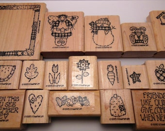 Retired Stampin' Up Quilts Give Comfort Stamp Set (1995)