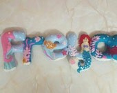 Personalised Under the Sea Childrens Felt Name Banner