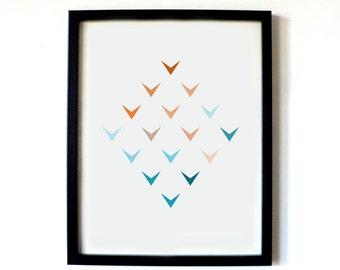 Colourful Arrows Blue/Orange