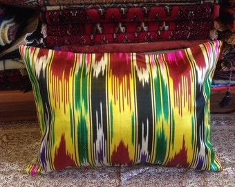 Old Silk ikat pillowcase