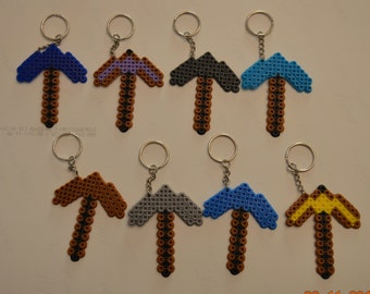 Mine Craft Pick Axe Party Pack of 8 keychains