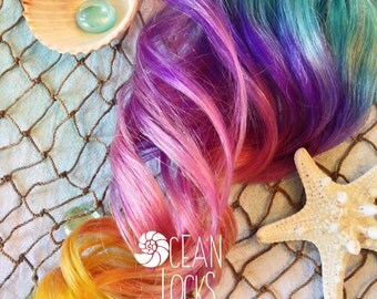 Underlights, Rainbow Hair, Pride Hair, Ombre Hair Extensions, Purple Hair, Turquoise Hair, Clip In Hair Extensions, Pink Hair, Pastel Hair