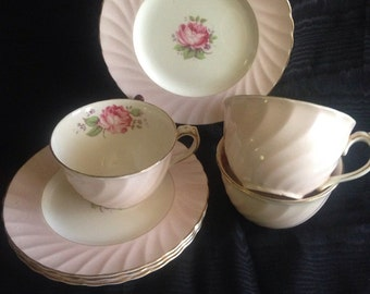 Miniver rose china 6 pieces