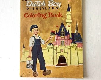 1957 Dutch Boy Advertising Coloring Book for Disneyland