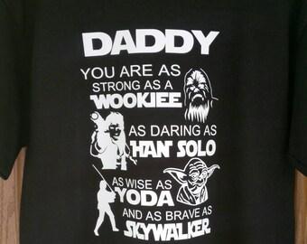 Star Wars Fan Shirt - Birthday Gift for Dad / Grandpa / Daddy / Uncle / Husband / Him - Wookiee Yoda Skywalker Hans Solo