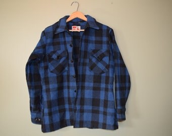Mens Plaid Wool Jacket