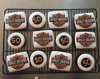 Harley Davidson Sugar Cookies.  Order is for 1 dozen
