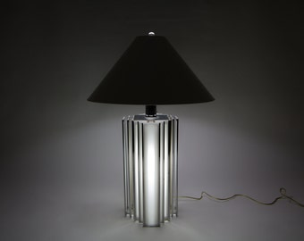 Mid Century Modern, Chrome and Acrylic, Large Accent / Table Lamp