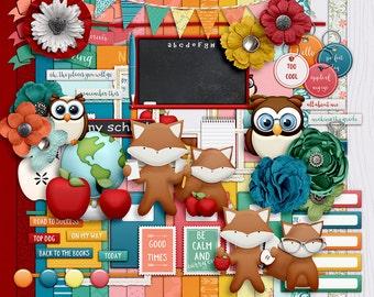 Review It- August- Digital Scrapbooking Kit - 20 Paper - 60 Plus Elements - Paper Size - 12 x 12 Inches
