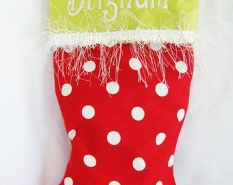 Design Your Own Monogrammed Christmas Stocking