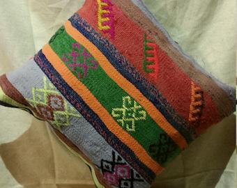 Kilim pillow, vintage pillow, Decorative pillow, woven pillow, ethnic pillow, Kurdish pillow '20x'18 inc ( 20 )