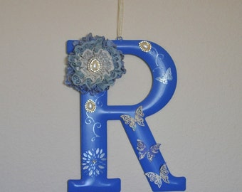"""Altered Mud Pie Metal Initial """"R"""" Wall Hanging"""