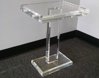 Acrylic Lucite End Table, Acrylic Lucite Side Table, Acrylic Lucite Cigarette Table