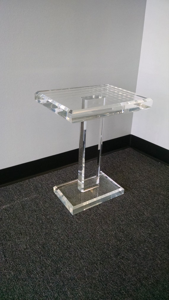 Acrylic Lucite End Table Acrylic Lucite Side Table Acrylic