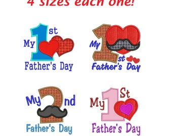 Father's Day applique embroidery designs Father's Day  applique design embroidery machine