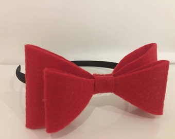 Red Bow Hair Accessory