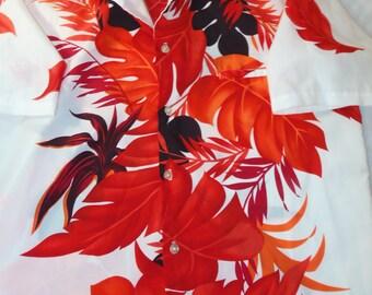 Vintage hawaiian shirt real vintage hawaiian hawaiian shirts Large adult vintage shirts multi colored floral hawaiian beach shirt vacation