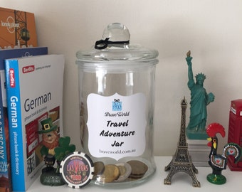 Travel Adventure Jar, Wanderlust, Holiday, Money Jar