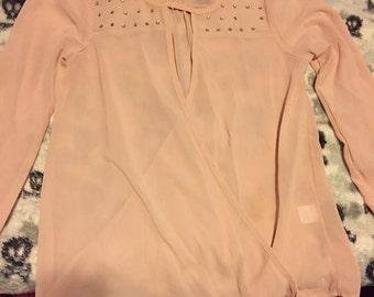 Light pink Charlotte Russe sheer top