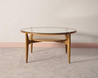 Danish teak table in teak with glass top
