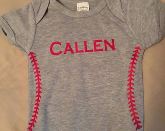 New Born Baseball Onesie