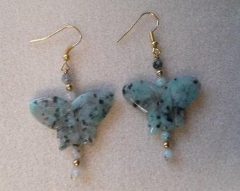 Sesame Jasper Butterfly Earrings