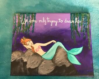 Peter Pan Mermaid Acrylic Painting