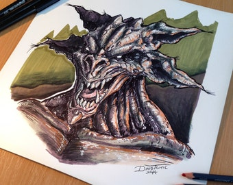 Marker Monster drawing