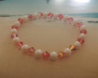 Glimmering Pink Swarovski Bracelet