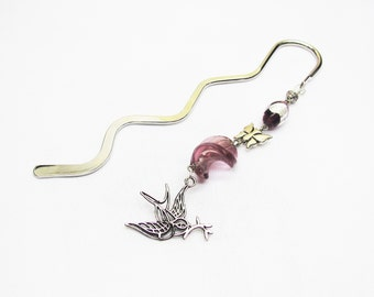 Bookmark jewel, mark-page fantasy, bookmark beads roses, bookmark bird, bookmark