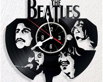 Vinyl wall clock The Beatles