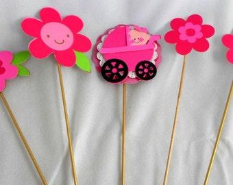 Pink Baby Shower Picks