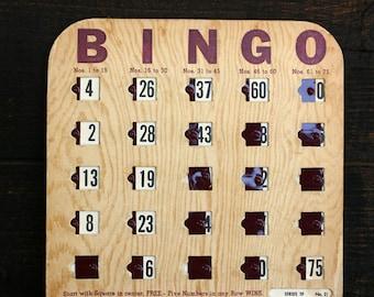 Vintage Sliding Bingo Cards - Vintage Games - Altered Art - Ephemera - Scrapbooking - Assemblage - Mixed Media