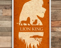Lion King art wall art print home decor minimalist Poster birthday gift wedding baner party decoration nursery decal