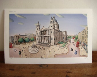 London print - St Paul's Cathedral Print - limited edition giclee print - London art