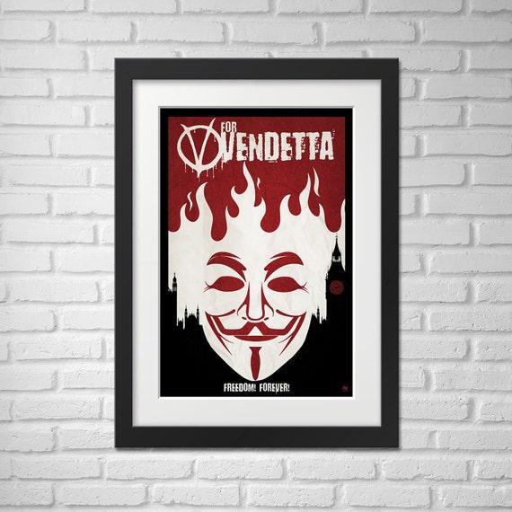 V For Vendetta - Illustration [V For Vendetta Movie Poster / V For Vendetta]