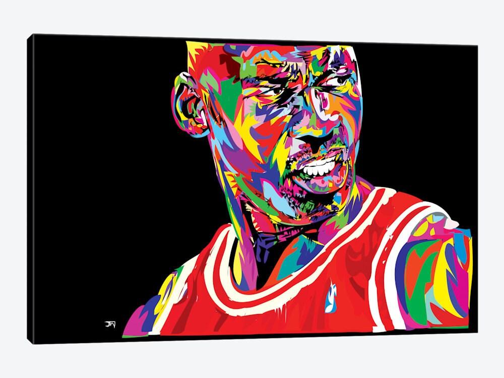Michael Jordan Artwork: Canvas Print Of MJ 23 Michael Jordan Portrait Street Art