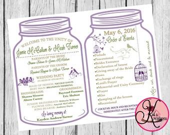 Rustic Wedding Printable Program