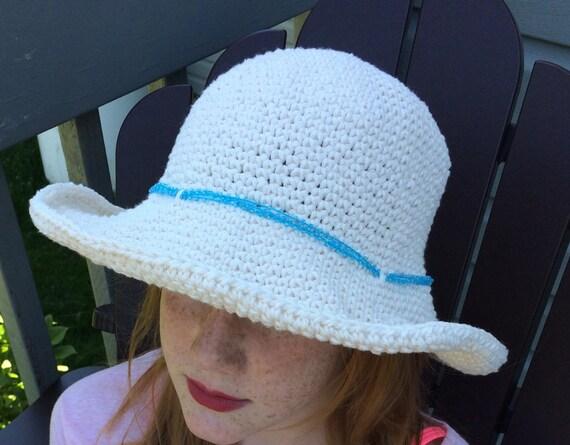 Frauen Sonne Hut Hut häkeln Baumwolle breiten Krempe Frauen