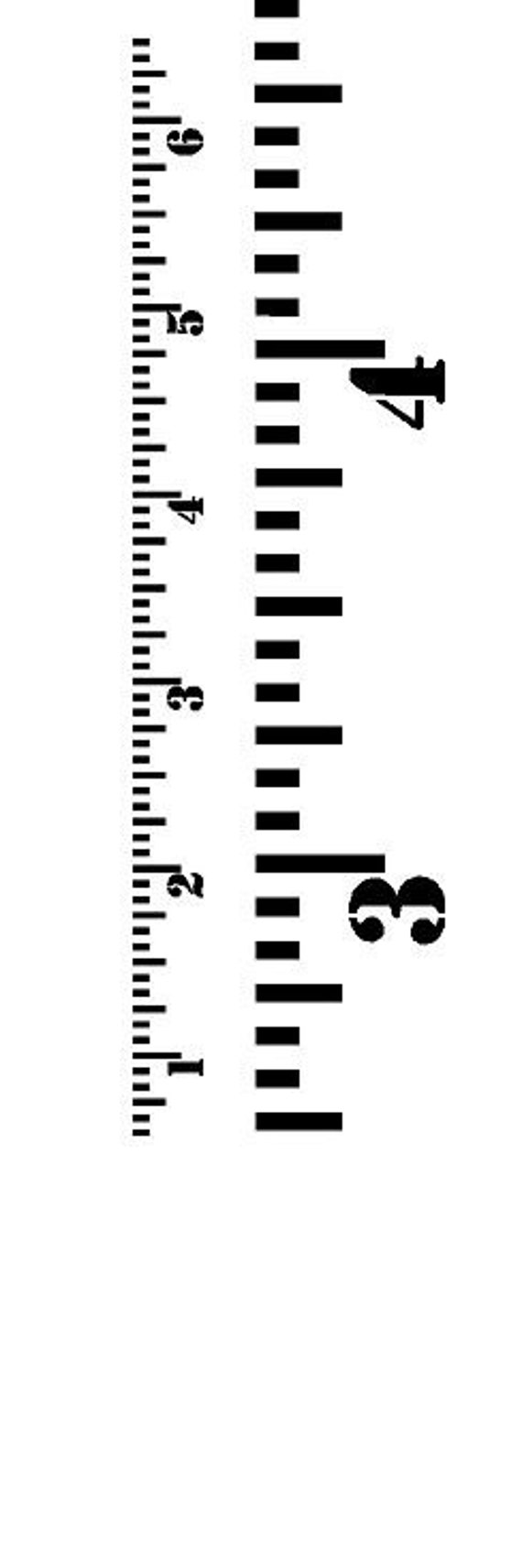 Diy Growth Chart Ruler Vinyl Decal Kit Ready To By Leulasigns