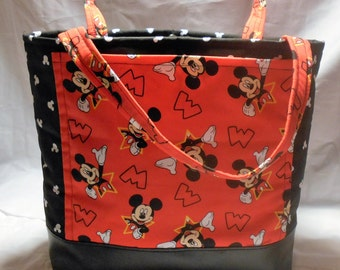 Mickey Mouse Diaper Bag Tote, Mickey Mouse Tote Bag, Mickey Baby Bag, Mickey Mouse Shoulder Bag, Mickey Mouse Purse, Mickey Mouse Carry All