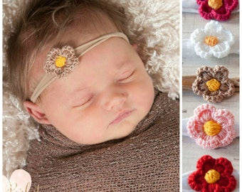 Baby headbands, newborn headband, Baby headband, Nylon headband,Baby girl Headband,Baby hair bows,little Flower headband, Baby headband