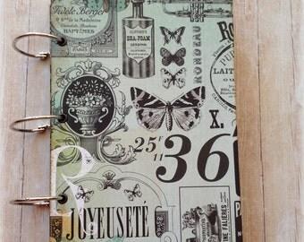 Music & Butterflies Junk Journal. Handmade Journal.