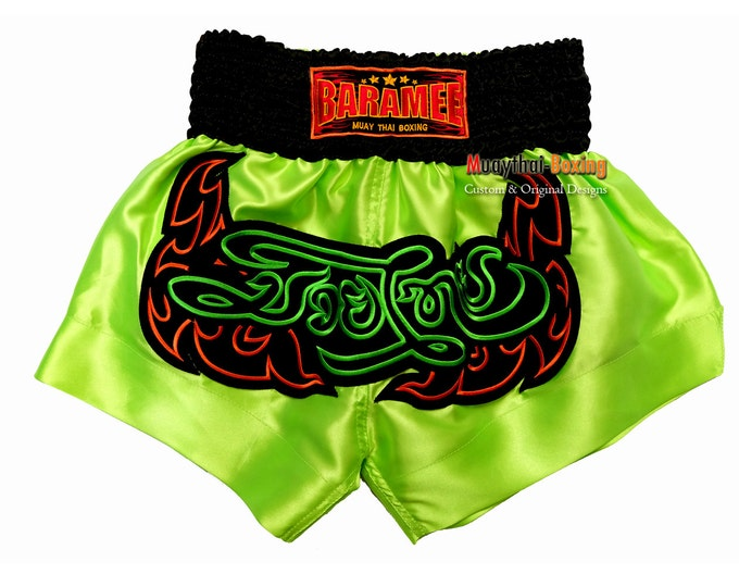Baramee Muay Thai Boxing Shorts for Training and Sparring - LIGHT GREEN