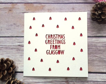Personalised Location Christmas Card, Custom Christmas Cards, Christmas Home Town Card, Papercut Christmas Card, Lasercut Card, Christmas