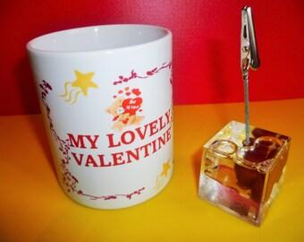 VALENTINE MUG.... comes with a free photo clip/memo holder