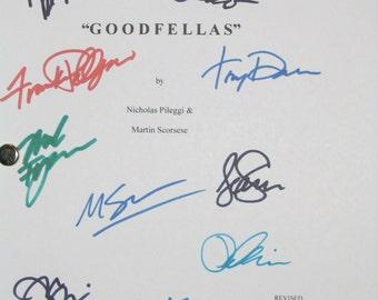 Goodfellas Signed Film Movie Script Screenplay X12 Robert De Niro Ray Liotta Joe Pesci Jerry Vale Martin Scorsese Frank Dileo Tony Sirico