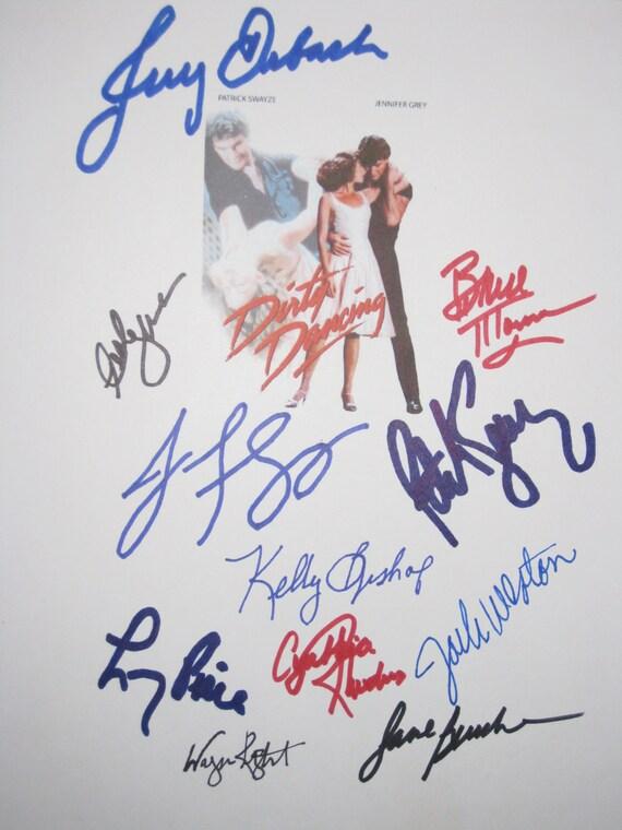 Dirty Dancing Signed Film Movie Script Screeplay X11 Patrick Swayze Jennifer Grey Jerry Orbach Kelly Bishop Jack Weston Lonny Price Rhodes
